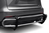 Image may not reflect your exact vehicle! Broadfeet® - WAAG Style Double Pipe Polished Stainless Steel Rear Bumper Guard