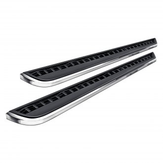 Broadfeet® - EZ R33 Series Wheel-to-Wheel Black with Chrome Running Boards