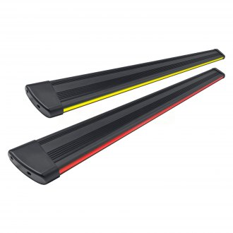"Broadfeet® - 6"" R66 Black Running Boards with Integrated LED Light"