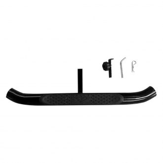 "Broadfeet® - 3"" Round Black Powdercoat End Caps Hitch Step for 1 ¼"" Receiver"