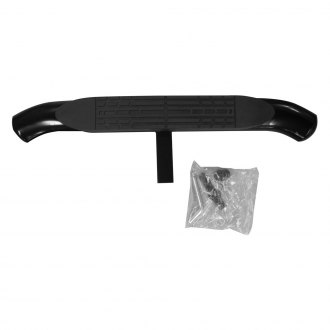 "Broadfeet® - 4"" Oval Black Powdercoat Curved Ends Hitch Step"