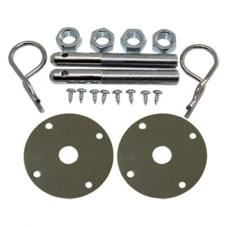 BTP® - Chrome Steel Hood Pin Kit with Hair Pins
