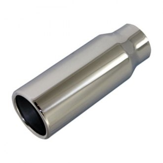 BTP® - Stainless Steel Round Straight Cut Weld-On Polished Exhaust Tip