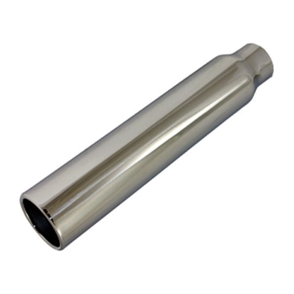 BTP® - Stainless Steel Round Straight Cut Polished Exhaust Tip