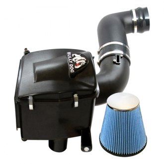 Bully Dog® - Rapid Flow Rubber Black Cold Air Intake System with Blue Filter