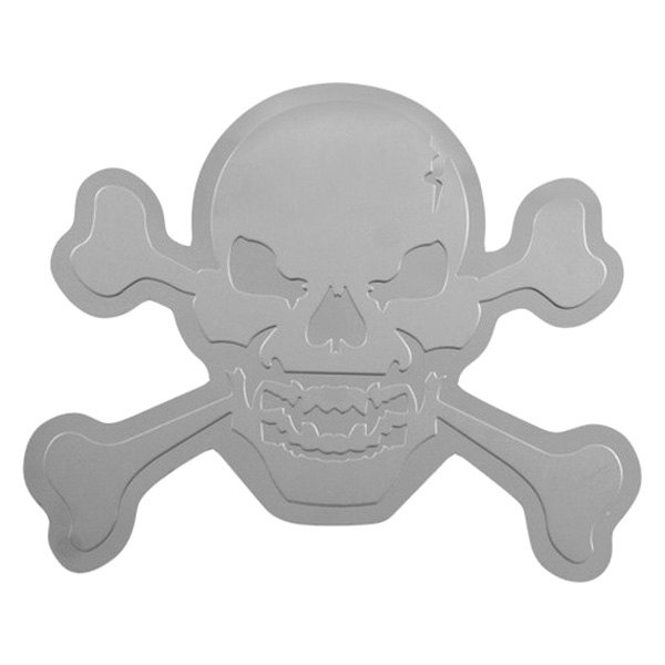 Bully® - 3D Design Skull with Crossbones Dual Layer Stainless Steel Emblem