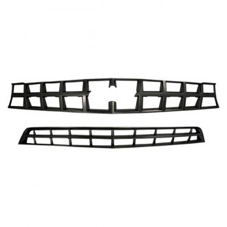 Bully® - 1-Pc Imposter Series Black Chrome Main and Bumper Grille Kit