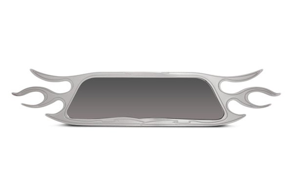 Bully® - Flame Design Billet Rear View Mirror