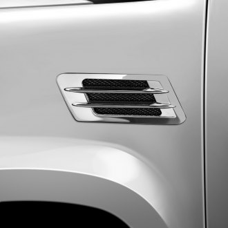 Bully® - Chrome Dual Fin Midsize Fender Air Vent