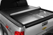 Bully® - Hidden Snap Tonneau Cover, Mid Opened