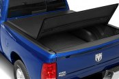 Bully® - Tri-Fold Soft Tonneau Cover, Mid Opened