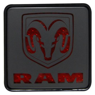 "Bully® - Square Hitch Cover with Brake Light with Dodge Logo for 2"" Receivers"