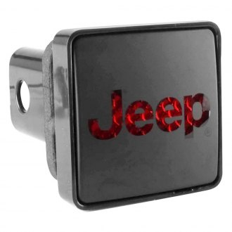 Bully® - Black Square Hitch Cover with Jeep Logo
