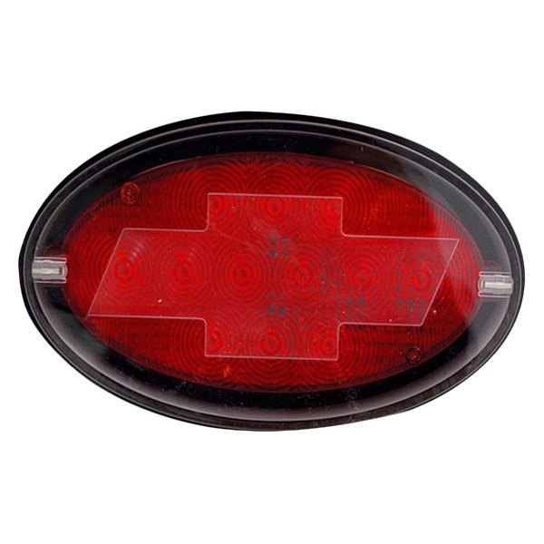 Bully® - Oval LED Hitch Cover with Brake Light Chevy Logo