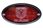 Bully® - Oval LED Hitch Cover with Brake Light Ram Logo