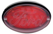 Bully® - Oval LED Hitch Cover with Brake Light Ford Logo