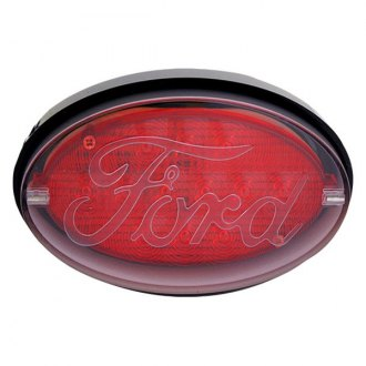 "Bully® - Oval LED Hitch Cover with Brake Light Ford Logo for 2"" Receivers"