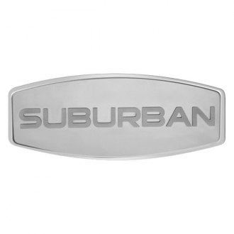 Bully® - Custom Dual Layer Stainless Steel Hitch Cover with Suburban Logo