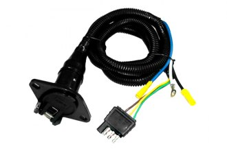 Bully® - 4 Wire Flat To 6 Round Adapter Trailer Wiring