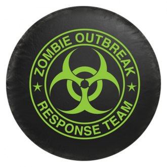 Bully® - Black Spare Tire Cover with Zombie Logo