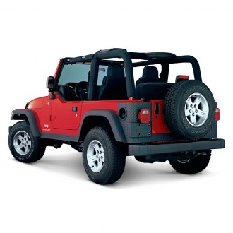 Bushwacker® - Trail Armor™ Diamondback Textured Rear Corner Set (For Bushwacker OE Style and Flat Style Fender Flares)