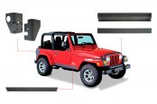 Bushwacker® - Trail Armor™ Diamondback Textured Protection Kit (For Bushwacker Pocket Style and Extend-A-Fender Flares)