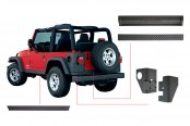 Bushwacker® - Trail Armor™ Diamondback Textured Protection Kit (For Bushwacker OE Style and Flat Style Fender Flares)