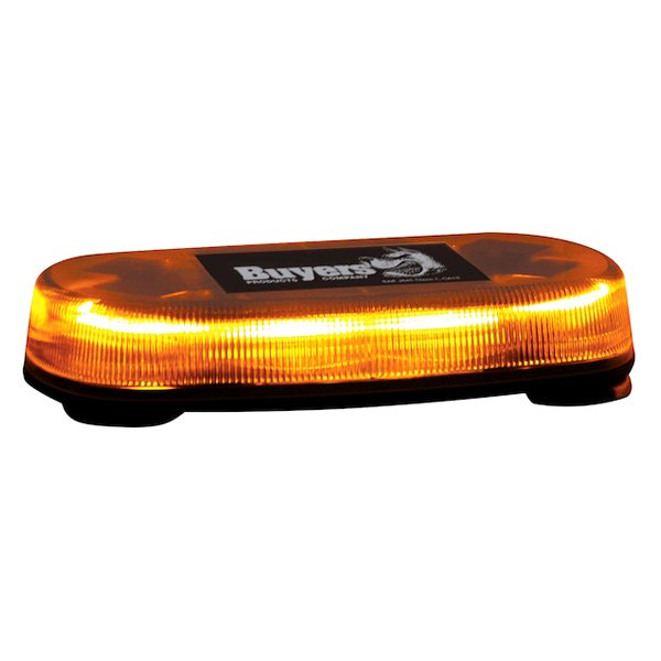 Buyers oval mini amber emergency led light bar buyers magnet mount oval mini amber emergency led light bar aloadofball Image collections