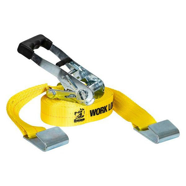 "Buyers® - 2"" x 27' Ratchet Strap with Flat Hooks (10000 lbs)"