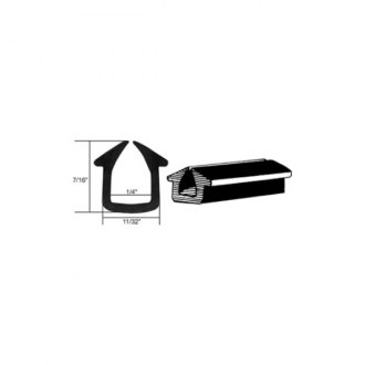 C.R. Laurence® - Rubber Glazing Channel