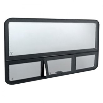 "C.R. Laurence® - Fixed ""All-Glass"" Look Window, Driver Side Middle, Rear and Passenger Side Rear 51"" x 23-1/4"""