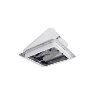 C.R. Laurence® - 14X14 White Roof Vent W/Fan