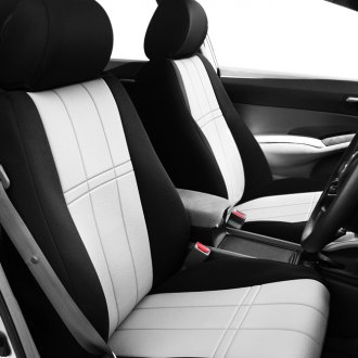 CalTrend® - DuraPlus Black and White Seat Covers