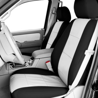 CalTrend® - Black and White Seat Covers