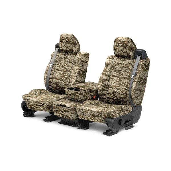 CalTrend® - 1st Row Camouflage Digital Desert Custom Seat Covers