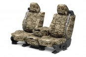 Image may not reflect your exact vehicle! CalTrend® - 1st Row Camouflage Digital Desert Custom Seat Covers