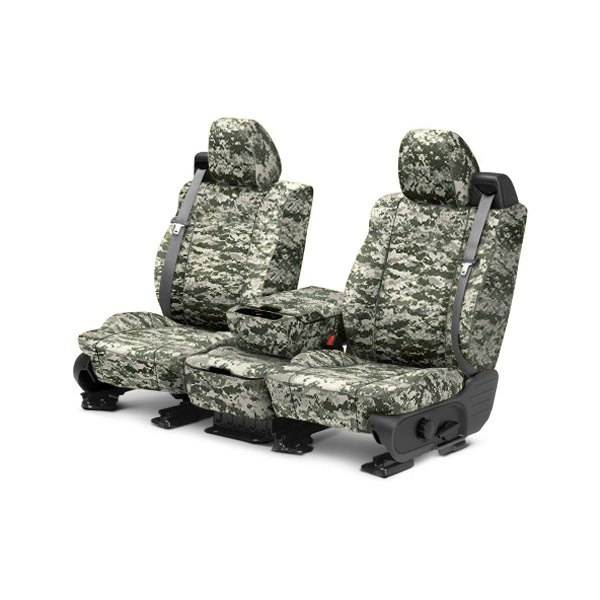 CalTrend® - 1st Row Camouflage Digital Forest Custom Seat Covers