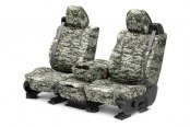 Image may not reflect your exact vehicle! CalTrend® - Front Camouflage Digital Forest Custom Seat Covers