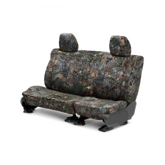 Image may not reflect your exact vehicle! CalTrend® - Rear Camouflage Hunter Custom Seat Covers
