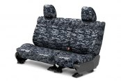 Image may not reflect your exact vehicle! CalTrend® - Rear Row Camouflage Custom Digital Navy Seat Covers