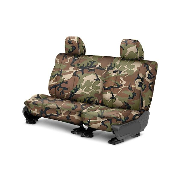 CalTrend® - 2nd Row Camouflage Retro Custom Seat Covers