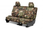 Image may not reflect your exact vehicle! CalTrend® - Rear Camouflage Retro Custom Seat Covers
