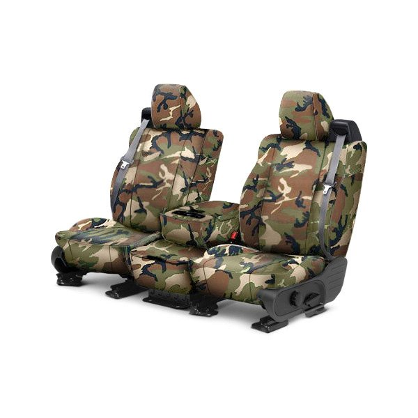 CalTrend® - 1st Row Camouflage Retro Custom Seat Covers