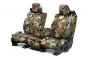 Image may not reflect your exact vehicle! CalTrend® - 1st Row Camouflage Retro Custom Seat Covers