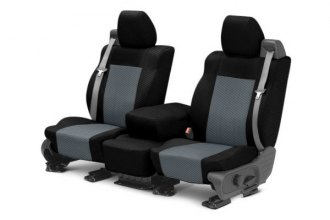 CalTrend® SU120-03FC - Front Row Carbon Fiber Black with Charcoal Custom Seat Covers