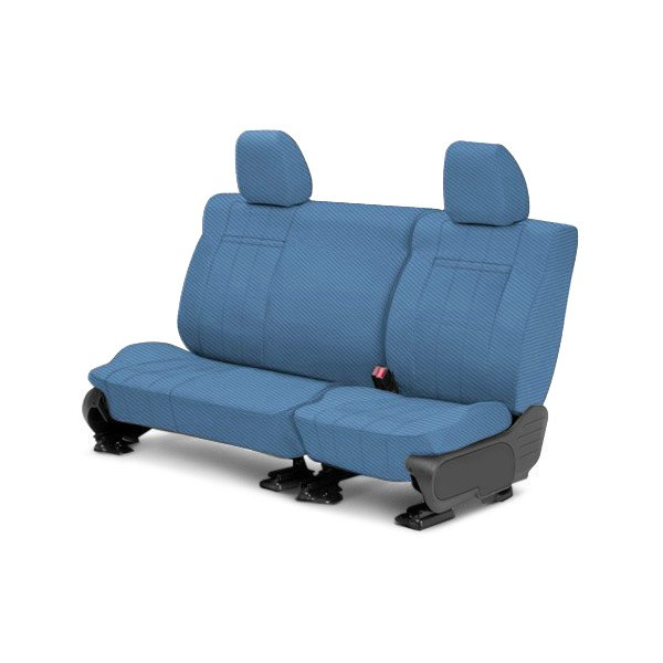 CalTrend® - 2nd Row Carbon Fiber Blue Custom Seat Covers