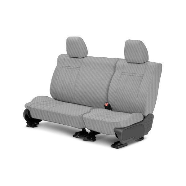 CalTrend® - 2nd Row Carbon Fiber Light Gray Custom Seat Covers