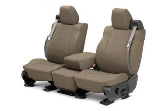 CalTrend® NS205-06DA - Front Row DuraPlus Beige Custom Seat Covers