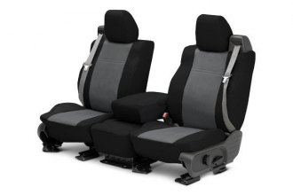 CalTrend® - 1st Row DuraPlus Black & Charcoal Custom Seat Covers