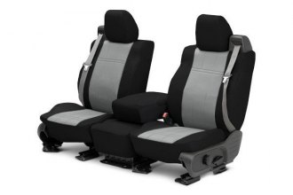 CalTrend® TY512-08DD - Front Row DuraPlus Black with Light Gray Custom Seat Covers